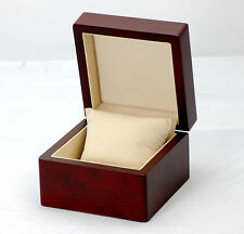 Large Wooden Watch Bangle Bracelet Gift Box Case DARK CHERRY WB01 CHE 0.5k