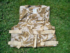 BRITISH ARMY DESERT VEST ARMOUR CARRIER / COVER DPM CAMO GENUINE MILITARY