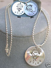 Sterling silver PERSONALIZED 3 names hand stamped jewel