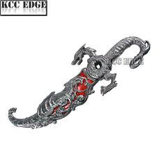 """BRAND NEW 10"""" RED INLAY FANTASY DRAGON DAGGER w/ SHEATH Blade Knife Sword"""