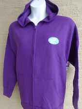 New Just My Size Eco Smart Sweats Zip Front Hooded Sweatshirt 4X Purple