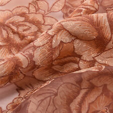 Peony Pattern Voile Curtains Living Room Window Curtain Tulle Sheer Curtains
