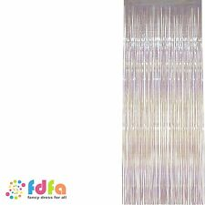 WHITE IRIDESCENT SHIMMER CURTAIN DOOR SIZE Party Fancy Dress Accessory