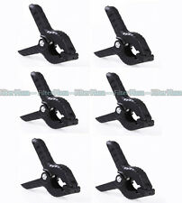 6pcs Background Clamps Clip For Studio Photography Muslin Backdrop Support Light