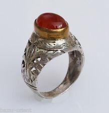 antik Edler orient silberring Karneol Afghanistan persien silver  ring Nr:32