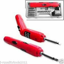CORDLESS BATTERY OPERATED POWER POWERED HAND STRAIGHT SCREWDRIVER TOOL KIT