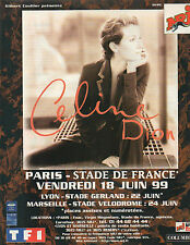 Publicité Advertising 1998  Radio  NRJ  Celine Dion en concert  STADE DE FRANCE