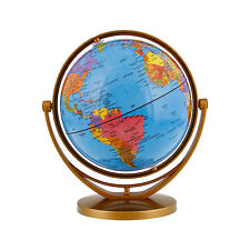 "6"" Inch (14.2cm) Blue Ocean Rotating Swivel and Tilt Desktop World Earth Globe"