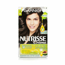 GARNIER NUTRISSE CREME 3 EBONY DARKEST BROWN HAIR COLOUR