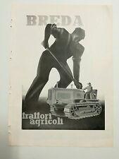 Pubblicità epoca 1951 BREDA TRATTORI AGRICOLI ITALY advertising werbung reklame