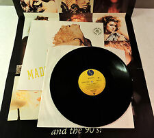 """Rare Madonna Vogue 12"""" with Limited Face Of The 80's Poster Sire 1990"""