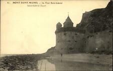 Mont Saint-Michel CPA ~1910/20 la Tour Saint Gabriel Turm der Stadtmauer Strand