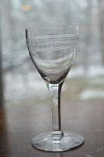 Vintage Etched Old Crystal Cordial Sherry Glasses