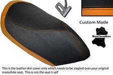 ORANGE & BLACK CUSTOM FITS PEUGEOT JETFORCE 50 125 FRONT LEATHER SEAT COVER