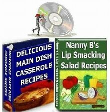 Casserole, Salad & Appetizer Recipes 4 Cookbooks on CD