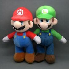 "New 2 Pcs/Set 10"" Super Mario Bros. Stand LUIGI & MARIO Plush Doll Stuffed Toy"