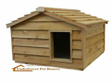 EXTRA LARGE INSULATED CEDAR OUTDOOR CAT HOUSE, SMALL DOG HOUSE, FERAL SHELTER