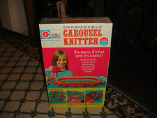 Vintage Expandable Carousel Knitter-New Sealed-Crafts By Whiting-Milton Bradley