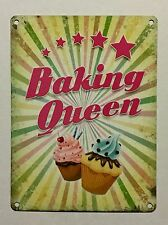 Baking Queen SML - Tin Metal Wall Sign