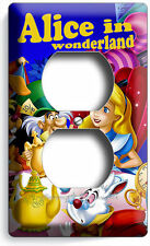 ALICE IN WONDERLAND DUPLEX OUTLET RECEPTACLE WALL PLATE KIDS BEDROOM ROOM DECOR