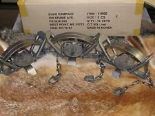 3 Duke #3 Coil Spring Traps  Beaver Fox Bobcat Coyote Wolf Trapping