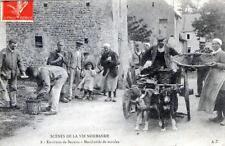 CPA 14 SCENES DE LA VIE NORMANDE ENVIRONS DE BAYEUX MARCHANDS DE MOULES (ATTELAG