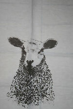 Frohstoff to Easter: Towel halbleinen sheep grey,Screen printing,download