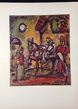 "1954 Vintage Full Color Art Plate ""THE FLIGHT INTO EGYPT"" by ROUAULT Lithograph"