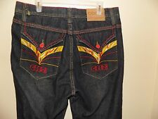 Men's COOGI Authentic Australian Jeans Embroidered Pockets  36/34 Measures 36/32