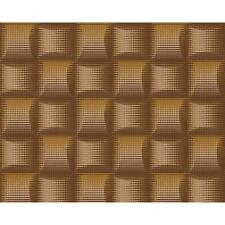 AS CREATION SQUARE PATTERN 3D STRIPE EFFECT NON WOVEN TEXTURED WALLPAPER 961802