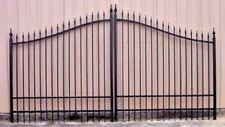 Ornamental Iron Driveway Entry Gate 14ft Wide Dual Swing, Fencing, Handrails.