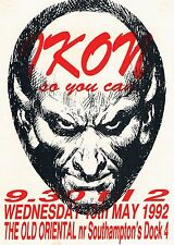 IKON 6 Rave Flyer Flyers A5 13/5/92 Old Oriental Southampton Dock 4