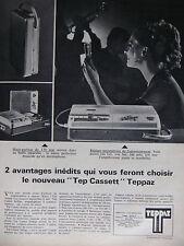 PUBLICITÉ DE PRESSE 1968 TEPPAZ LE NOUVEAU TEP CASSETT - ADVERTISING