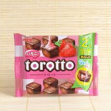 Japan Meiji TOROTTO STRAWBERRY ichigo Chocolate Crispy & Moist Japanese Candy