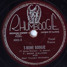 HEAR! Blues 78 rpm T-BONE WALKER T-Bone Boogie RHUMBOOGIE 4002