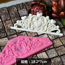 3D Silicone Cake Fondant Mold, Cake Decoration Tools, Soap,Crown Shaped Moulds