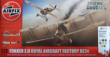 AIRFIX 1/72 ROYAL FOKKER E.II / RAF BE2c WWI DOGFIGHT DOUBLE kit *NEW*