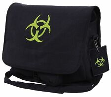 Black Canvas Bio-Hazard Messenger Bag - Rothco Zombie Fighter Shoulder Bags