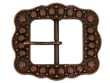 Western Cowboy Decor Center Bar Berry Buckle Antique Copper Plated 1 1/2""