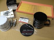 GENUINE MG MGF TF SERVICE KIT SPARK PLUGS AIR + OIL FILTER + FREE COFFEE MUG