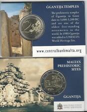 """2 Euro Gedenkmünze Malta 2016 """"Ggantija""""  Prägezeichen Monnaie De Paris Coincard"""
