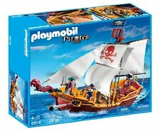 PLAYMOBIL Red Serpent Pirate Ship , New, Free Shipping