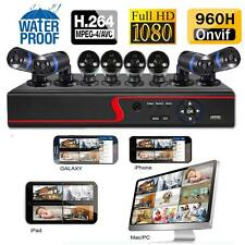 8CH 960H HDMI DVR 1080P CCTV IR Home Surveillance Outdoor Security Camera System