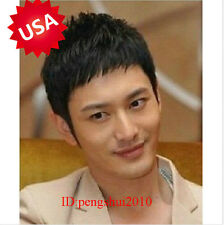 New Korean Fashion Handsome Boys Short Black Men's Male Hair Cosplay Full Wigs