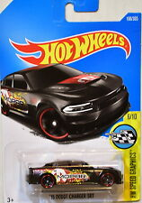 HOT WHEELS 2017 HW SPEED GRAPHICS '15 DODGE CHARGER SRT #6/10 BLACK