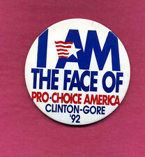 BILL CLINTON *PRO CHOICE* POLITICAL BUTTON (4 Inch) '92 ELECTION *ON SALE* #036