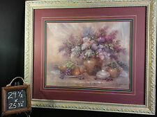 Lilac Breezes by Artist Lena Liu Painting Print Numbered & Signed 29 1/2x 25 1/2