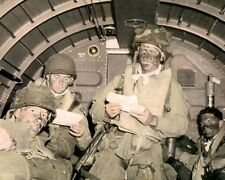"439th TROOP CARRIER 101st AIRBORNE 1944 WWII 8x10"" HAND COLOR TINTED PHOTOGRAPH"