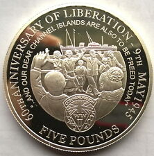 Jersey 2005 WWII Liberation 5 Pounds Silver Coin,Proof