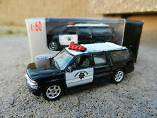 1:60 WELLY = 2001 Chevrolet Suburban HIGHWAY PATROL Police Car *NIB*
